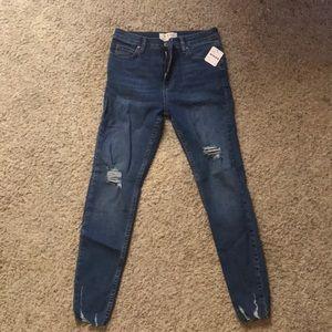 Free People We the Free blue denim skinny jeans